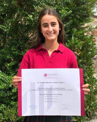 Alumna de Canigó recibe un premio en los Premios Arnau de Vilanova 21